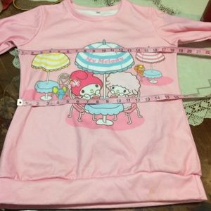 Hello Kitty Tops - Hello Kitty My Melody pink sweatshirt sweater